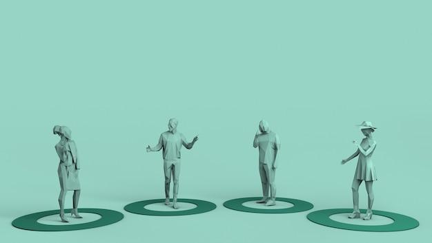 Social distancing covid19 concepto de salud