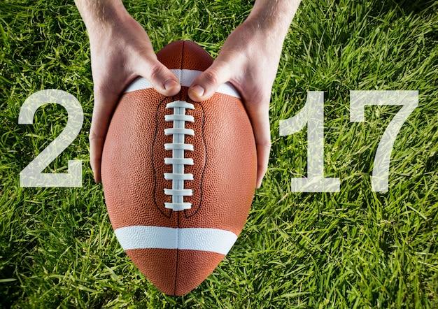 Socios equipos cuerda quarterback enojado