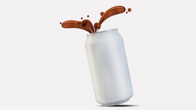 Soda lata splat