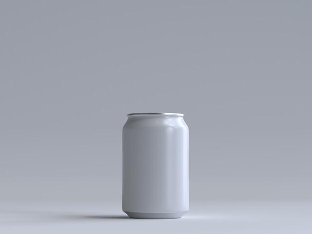 Soda de render 3d puede sin etiqueta