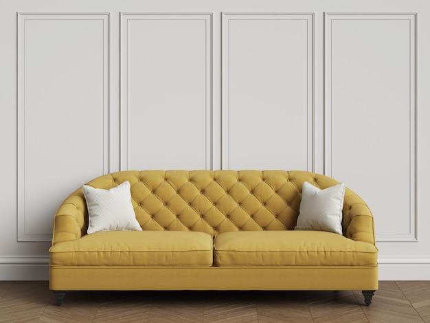 Sofá clásico en interior clásico con espacio de copia representación 3d