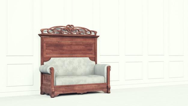 Sofá clásico de pared negra para un estilo de vida de lujo. diseño interior moderno de negocios.