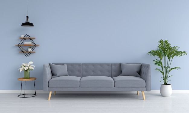 Sofá gris y rampa