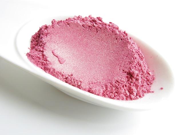 Soft pink mica shimmer pigmento cosmético en polvo