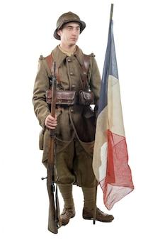 Soldado francés 1940 aislado