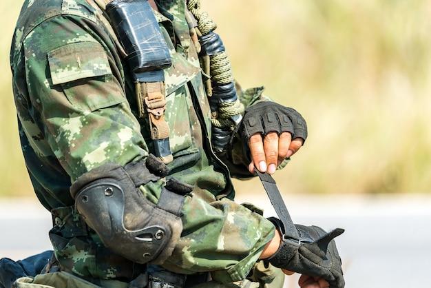 Soldado listo para el combate de guerra