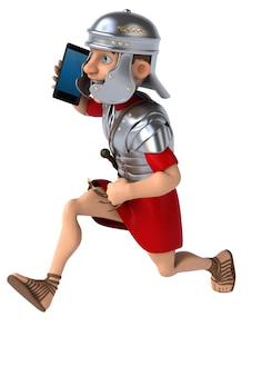 Soldado romano divertido - ilustración 3d