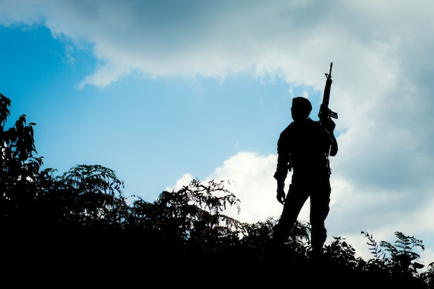 Soldado de silueta