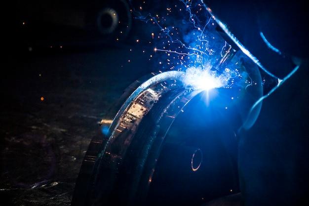 Soldadura industria del acero trabajador