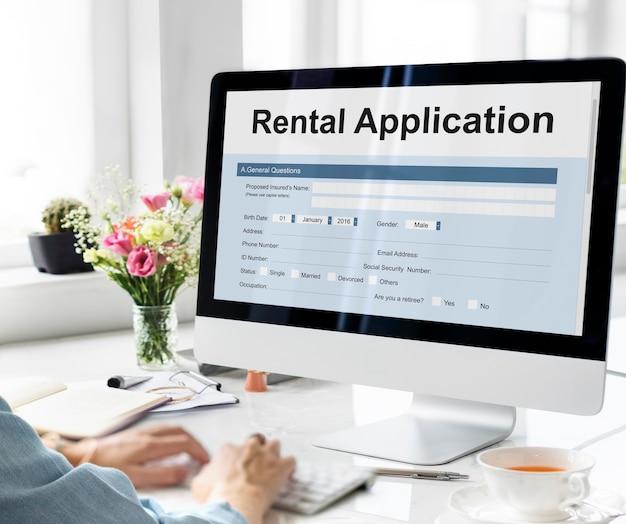 Solicitud de alquiler arrendable solicitar préstamo aplicar concepto de alquiler