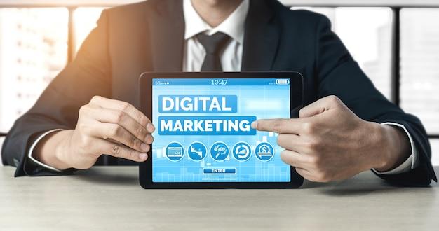 Solución de tecnología de marketing digital para el concepto de negocio en línea