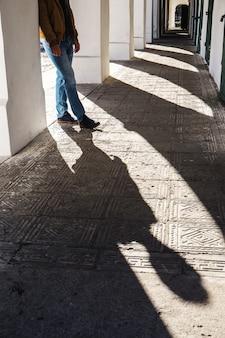 Sombra de pies