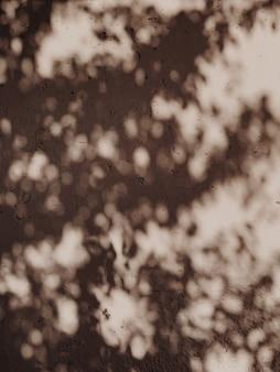 Sombras de árboles en la silueta floral de la luz del sol