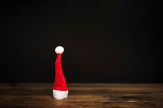 Sombrero de navidad, acostado, en, tabla