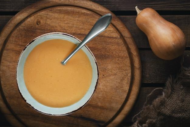 Sopa de calabaza - vista superior