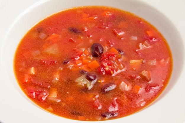 Sopa con frijoles
