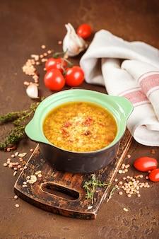 Sopa de lentejas - masoor dal o dal tadka curry