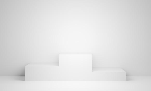 Soporte blanco renderizado 3d