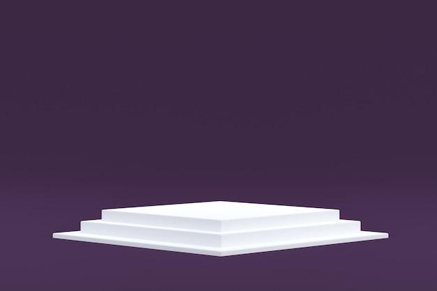 Soporte de producto, podio mínimo en violeta para presentación de productos cosméticos.