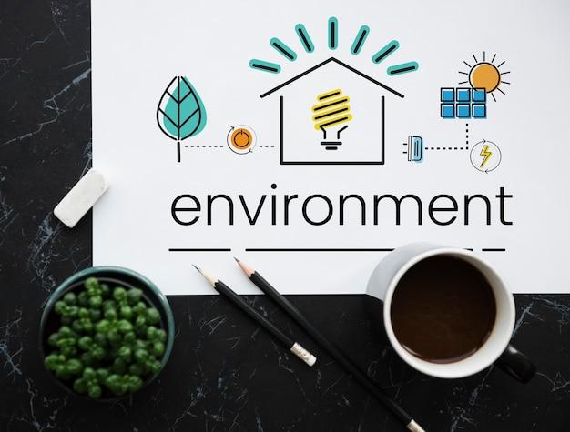 Sostenibilidad del medio ambiente concepto ecológico