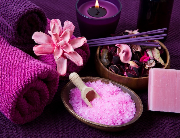 Spa elementos en rosa