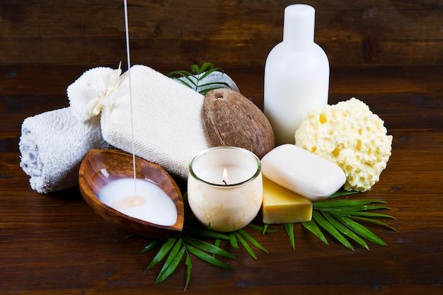 Spa de productos de coco