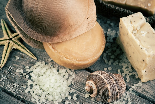 Spa con sal y jabón orgánico.