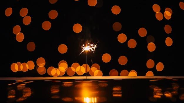 Sparkler y manchas de luz