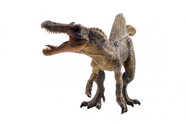 Spinosaurus, dinosaurio sobre fondo blanco