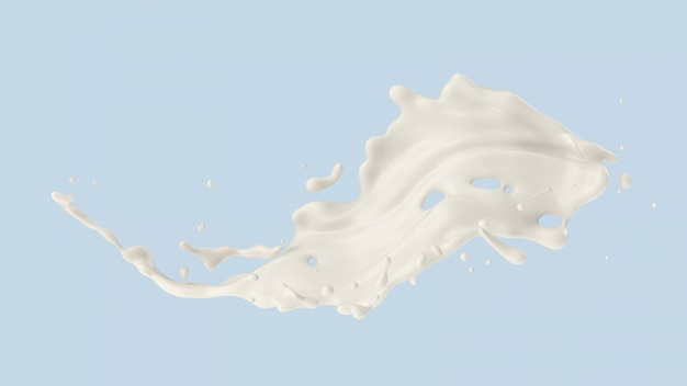 Splash de leche o yogurt