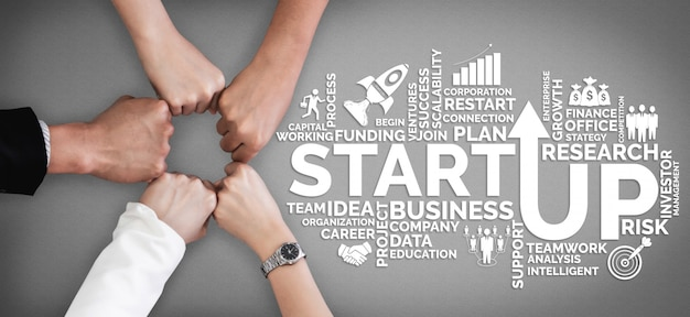 Start up business de personas creativas