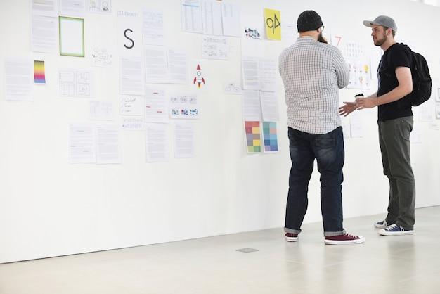 Startup business board y strategy board.