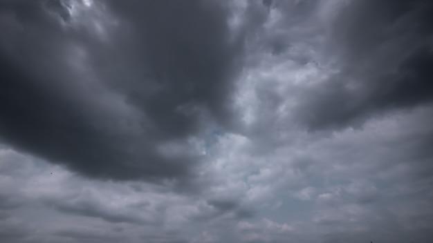 Strom y cielo nuboso lluvioso
