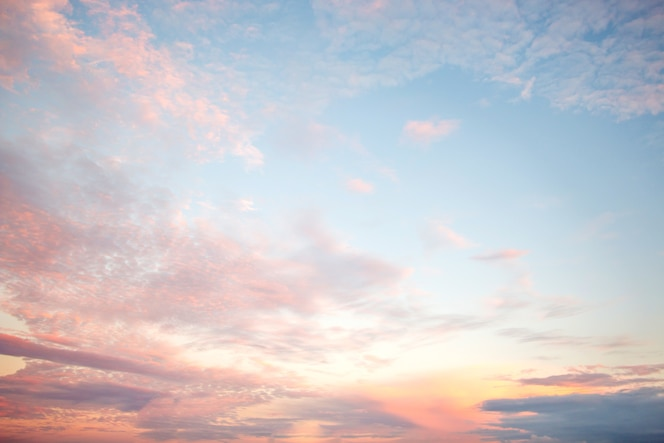 Suave nublado es pastel degradado