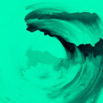 Suave pincel de acuarela verde diseño en la superficie de la planta