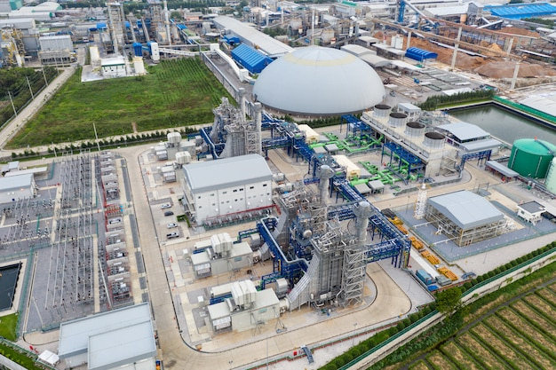 Subestación de planta eléctrica