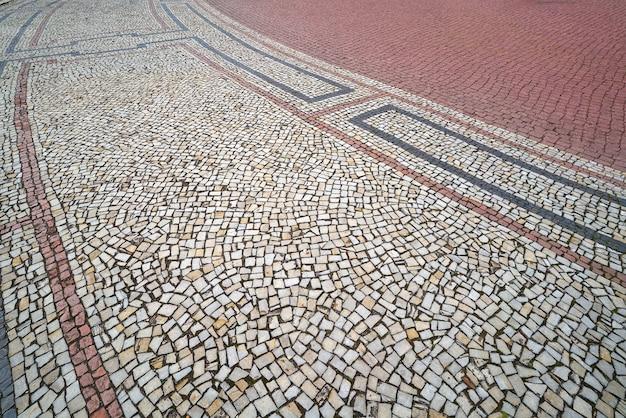 Suelo de mosaico en dresde en la plaza theaterplatz