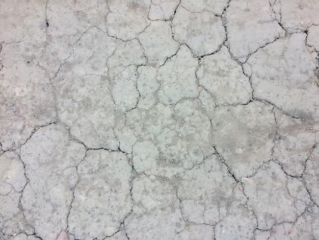Suelo seco de fondo en la vista superior