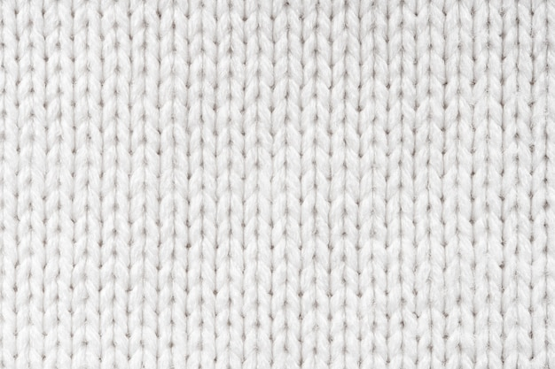 Suéter de lana blanca textura de fondo