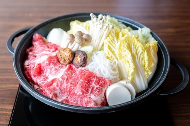 Sukiyaki de ternera