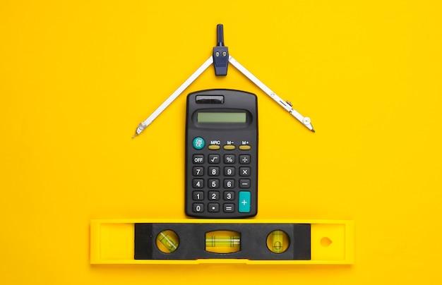 Suministros de construcción de ingeniería en amarillo