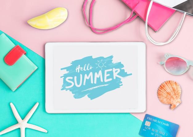 Summer chill collection concepto fresco de ocio colorido