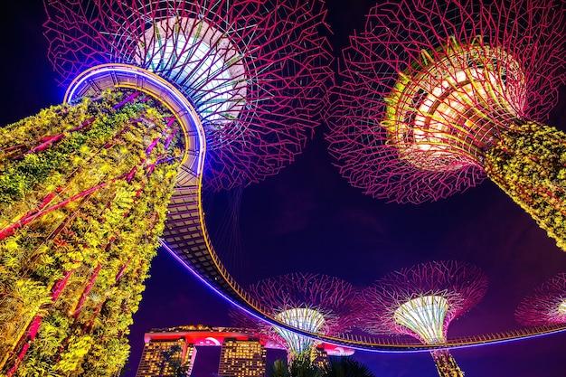 Super árbol en garden by the bay, singapur.