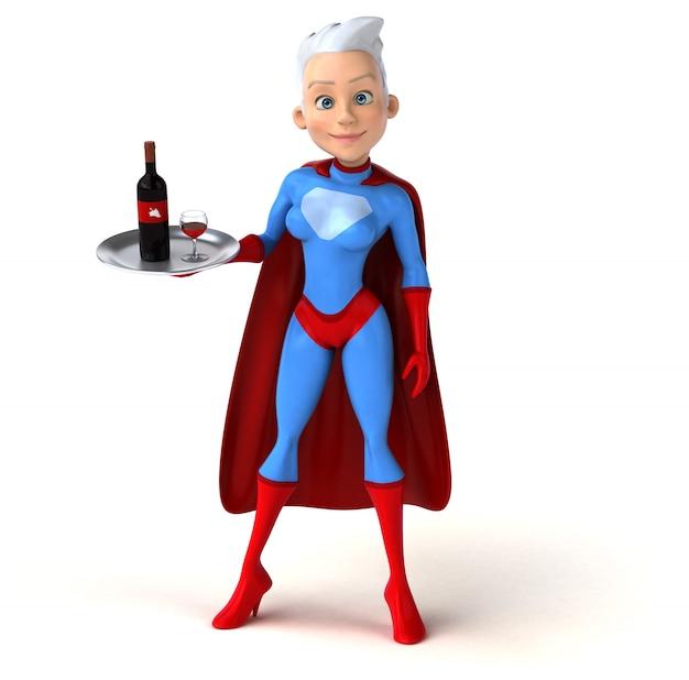 Super mujer personaje aislado