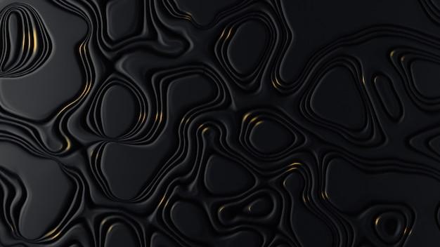 Superficie abstracta negra con formas irregulares