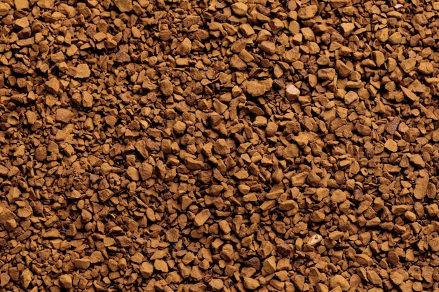 Superficie de café instantáneo