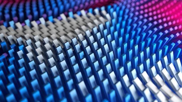 Superficie de cajas con ondas coloridas de patrón abstracto