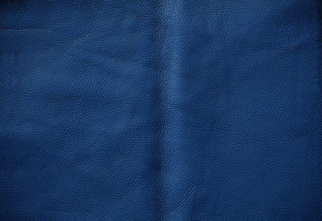 Superficie de cuero azul.