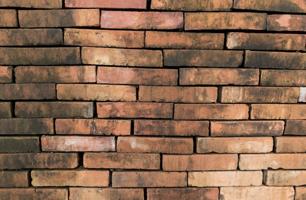 Superficie de fondo de pared de ladrillo marrón para decoración de interiores diseño moderno