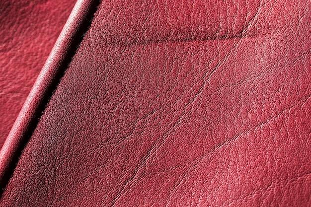 Superficie de fondo de textura de cuero rojo burdeos